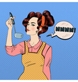 Attractive Woman Cooking in the Kitchen vector image