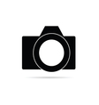camera icon in black vector image