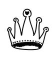 cartoon crown icon image vector image