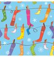 Christmas pattern with socks seamless vector image