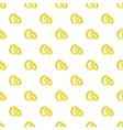Gold wedding rings pattern cartoon style vector image