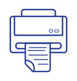 line printer machine technology with business vector image