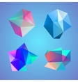 Polygonal decorational element vector image