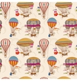 Retro air hot balloons seamless childrens vector image