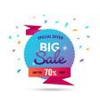 big sale - modern of discount vector image