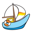 Sailing on the sea vector image vector image