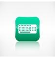 Computer keyboard web icon Application button vector image vector image