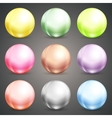 Set of colorful round baubles or balls vector image