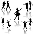 dancing kids vector image