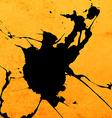 Bright Yellow Paint Splash Background vector image vector image