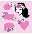 beauty girl frames vector image vector image