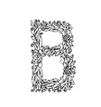letters floral b vector image