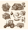 eco farm sketch vector image