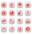 celebrate icon set vector image