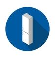 flat icon refrigerator vector image