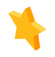 gold five-pointed star icon for favorite things in vector image