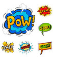 pop art comic speech bubble boom effects vector image
