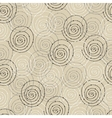 Seamless pattern with spiral circle vector image