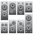 Set of audio speakers vector image