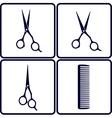 set of hair salon tools vector image