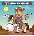 Sheriff on horse character from wild West series vector image