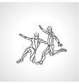 soccer or football players kicks the ball vector image