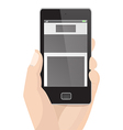 Responsive Layout Vertical Display Mobile Phone vector image vector image