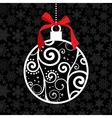 Elegant Christmas hang bauble vector image