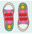 Sports shoes for a girl vector image