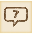 Grungy question icon vector image