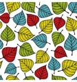 Colorful seamless pattern with leaves vector image