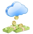 Money from the sky vector image