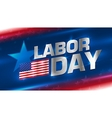 Lettering Labor Day on the background vector image