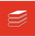 Book icon design Library Book symbol vector image
