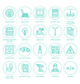 electricity engineering flat line icons vector image