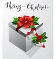 Gift box with bow Christmas Card vector image