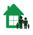 green house and family color vector image