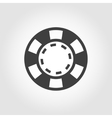 grey casino poker chips icon vector image