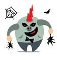 Halloween Monster Catcher spiders Cartoon vector image