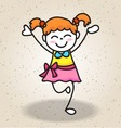 happy girl isolated vector image