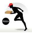 Pizza Delivery Person in rush vector image