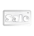 price tag with the word sale in the style of a vector image