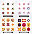 set of colorful abstract symmetric geometric icons vector image