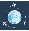 Traveling around the world by air transport vector image