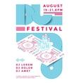 Dj festival poster vector image