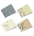 Personal business cards set vector image vector image