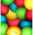 Easter eggs painted vector image vector image