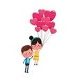 kawaii couple in love vector image
