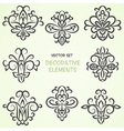Decorative ethnic elements vector image