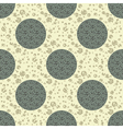 ornate textured polka dot seamless pattern vector image
